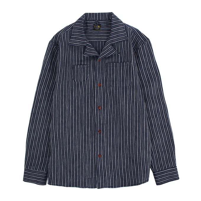 ONE-UP LINEN SHIRTS [Indigo]