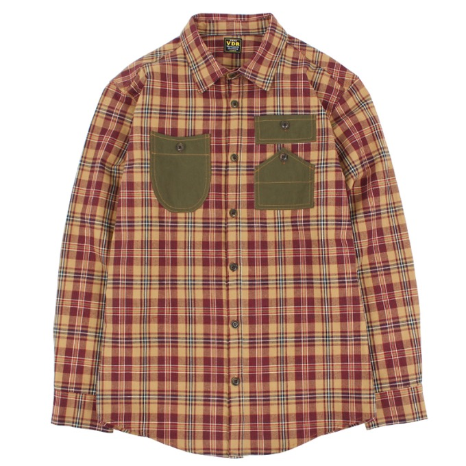 LIFE GUARD FLANNEL SHIRTS [Brown]